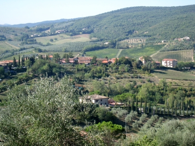 We visited several small towns in the Tuscan countryside