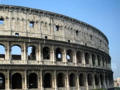 We took a bus tour of Rome, and only got to drive by the Colosseum