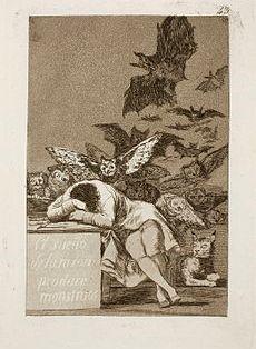 El sueño de la razón produce monstruos by Goya
