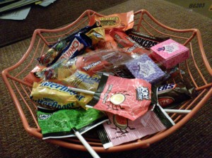 Our Halloween candy stash