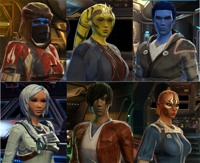 My TOR toons in order of creation.  Not a Body Type 4 in sight.
