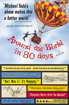 There is no hot air balloon in Around the World in Eighty Days (3/5)