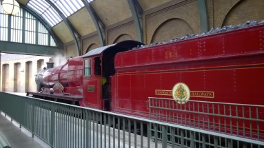 Hogwarts Express leaving Platform 9 3/4