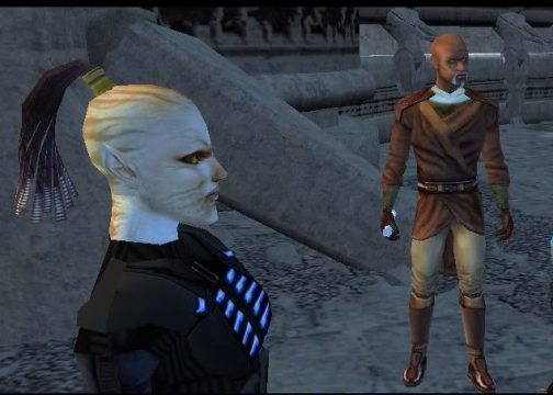 Juhani (left) and Jolee from Knight of the Old Republic