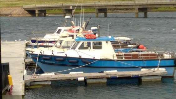 The dock at Portmagee; our boat was the furthest one in the back