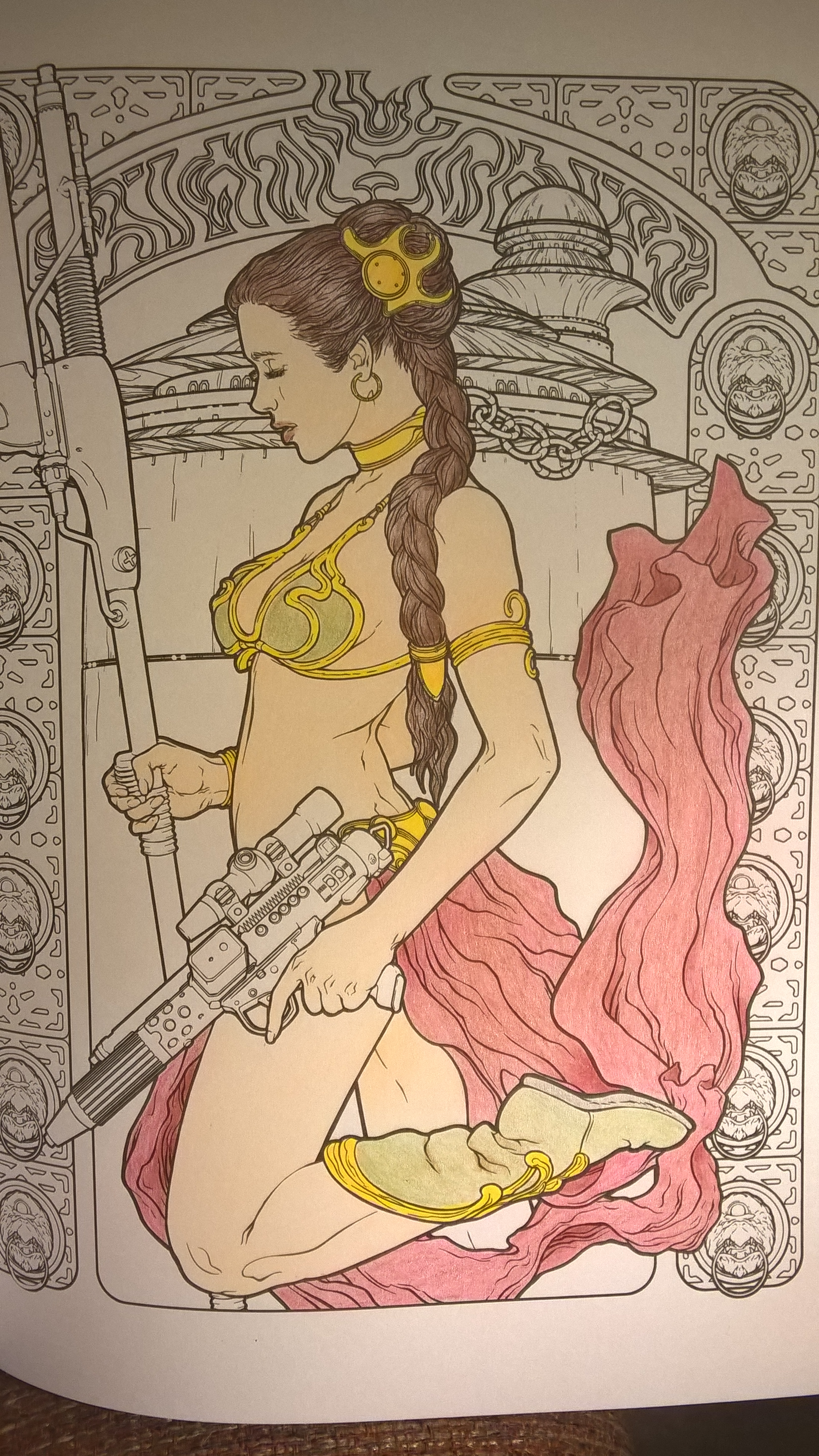 fan art friday more star wars coloring book u2013 jedi by knight