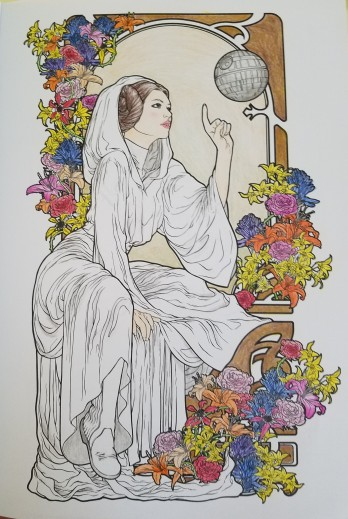 fan art friday art nouveau leia jedi by knight. Black Bedroom Furniture Sets. Home Design Ideas