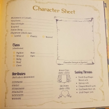 Level 0 Character Sheet