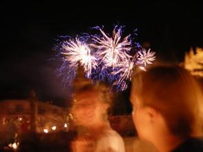 Fireworks above Salamanca