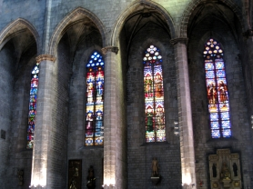 Stained glass in Santa Maria del Mar