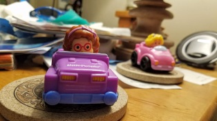 Cars on coasters
